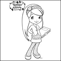 STRAWBERRY SHORTCAKE - Blueberry Muffin Colouring Page 2