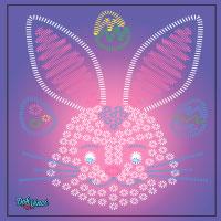 Modello stampabile DohVinci Coniglietto di Pasqua
