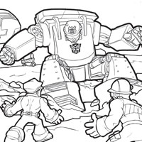 PLAYSKOOL HEROES TRANSFORMERS RESCUE BOTS Colouring Page - CHASE