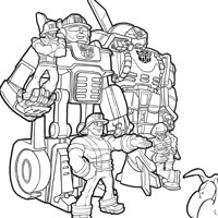 PLAYSKOOL Heroes Transformers Rescue Bots Coloring Page - Heatwave
