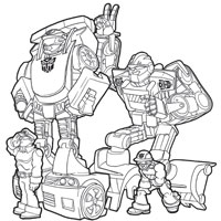 PLAYSKOOL Heroes Transformers Rescue Bots Colouring Page