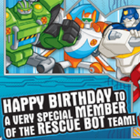 PLAYSKOOL HEROES TRANSFORMERS RESCUE BOTS Birthday Card