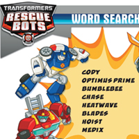 PLAYSKOOL HEROES TRANSFORMERS RESCUE BOTS Word Search
