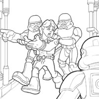 PLAYSKOOL Heroes Star Wars Jedi Force Coloring Page