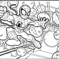 PLAYSKOOL Heroes Marvel Super Hero Adventures Coloring Page