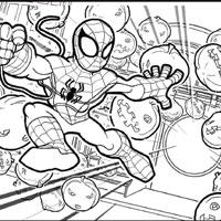 PLAYSKOOL Heroes Marvel Spider-Man Adventures Colouring Page
