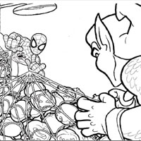 PLAYSKOOL Heroes Marvel Spider-Man Adventures Colouring Page