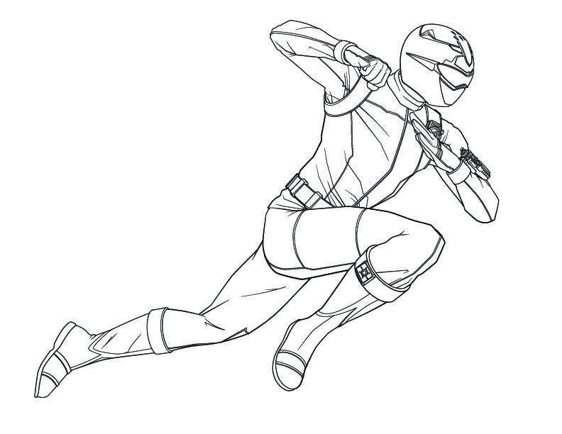 POWER RANGERS - Coloriage Power Rangers 01