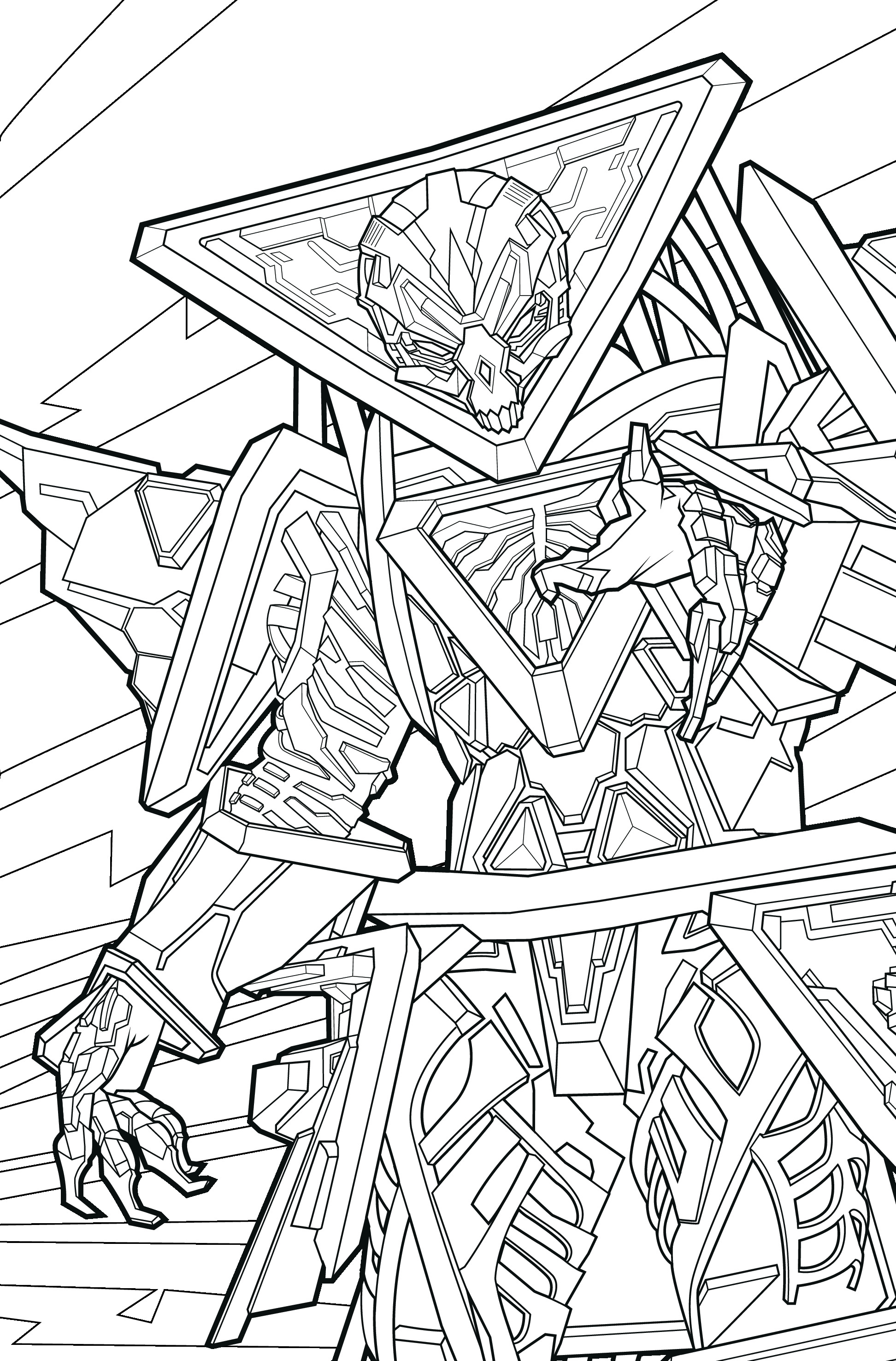 POWER RANGERS - Coloriage Cybervilain 13