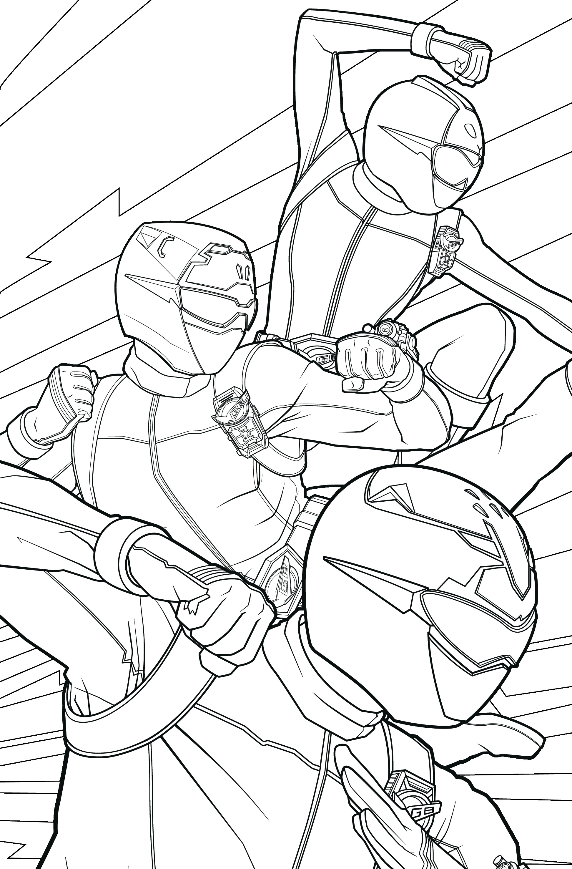 POWER RANGERS - Coloriage 3 Power Rangers 10