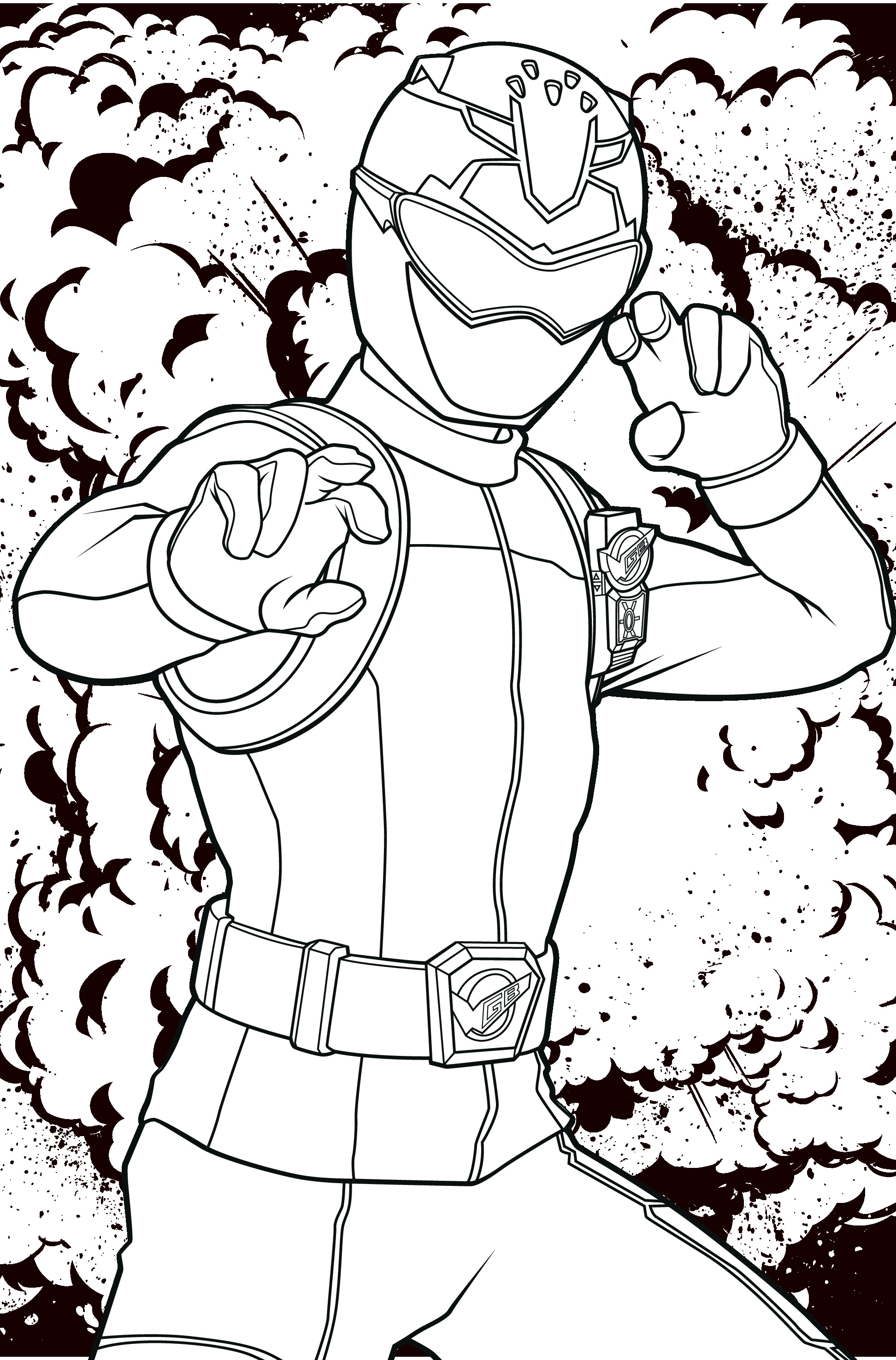 POWER RANGERS - Coloriage Ranger rouge 06