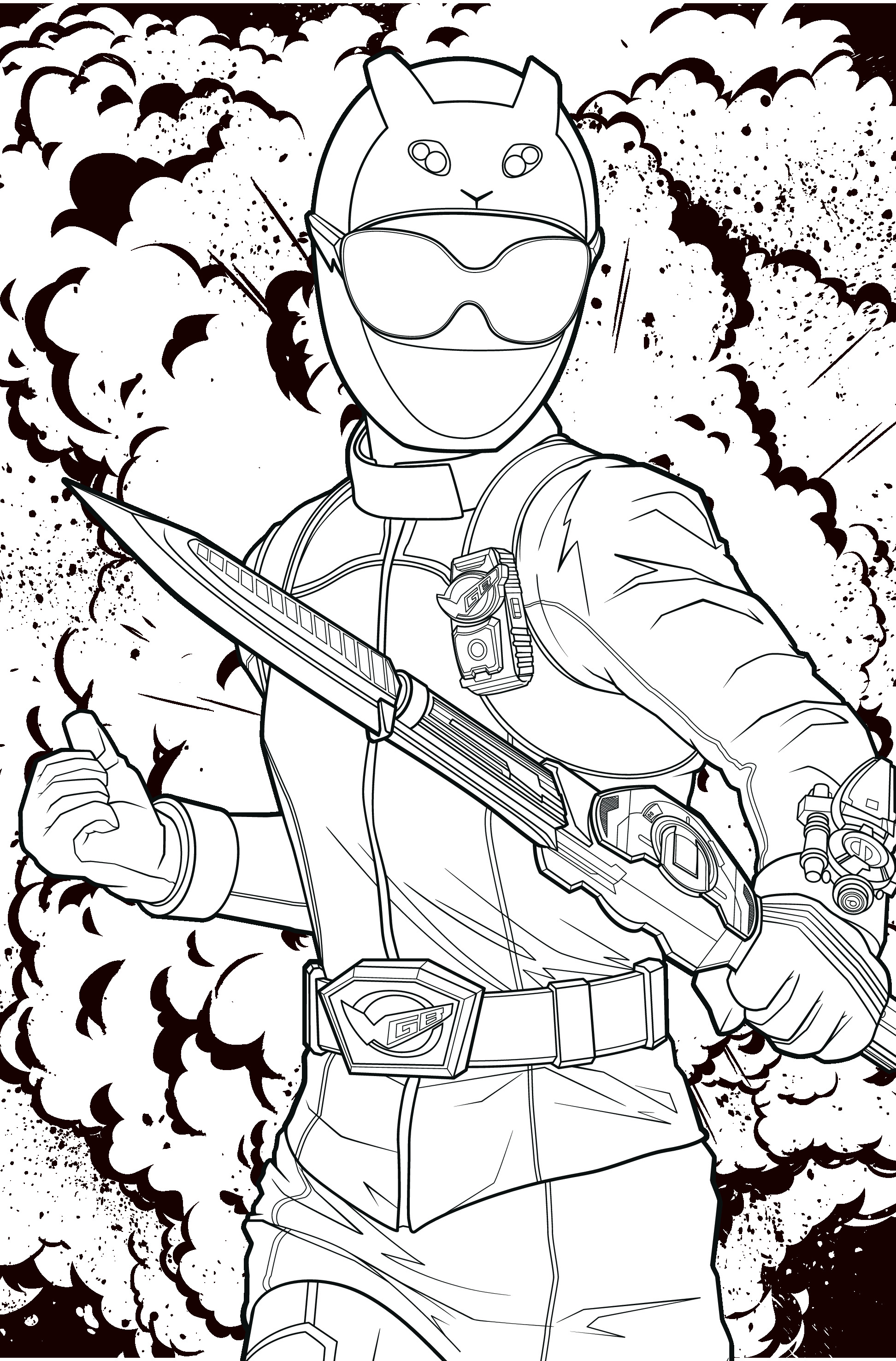 POWER RANGERS - Coloriage Ranger jaune 07