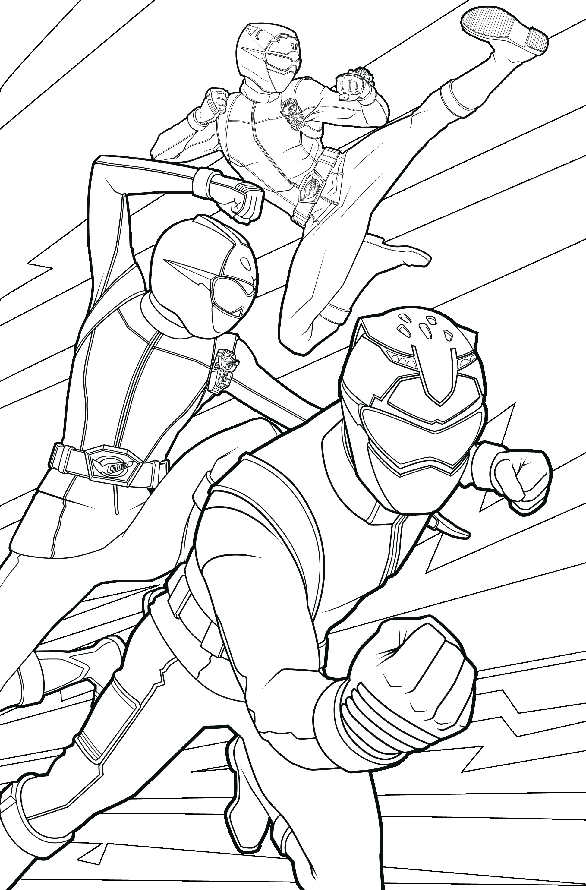 POWER RANGERS - Coloriage 3 Power Rangers 09