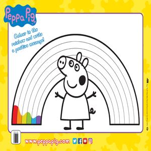 Peppa Pig: Rainbow Activity Sheet