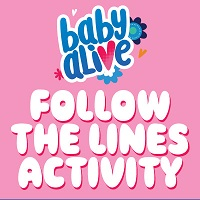 Baby Alive Follow the Lines Activity