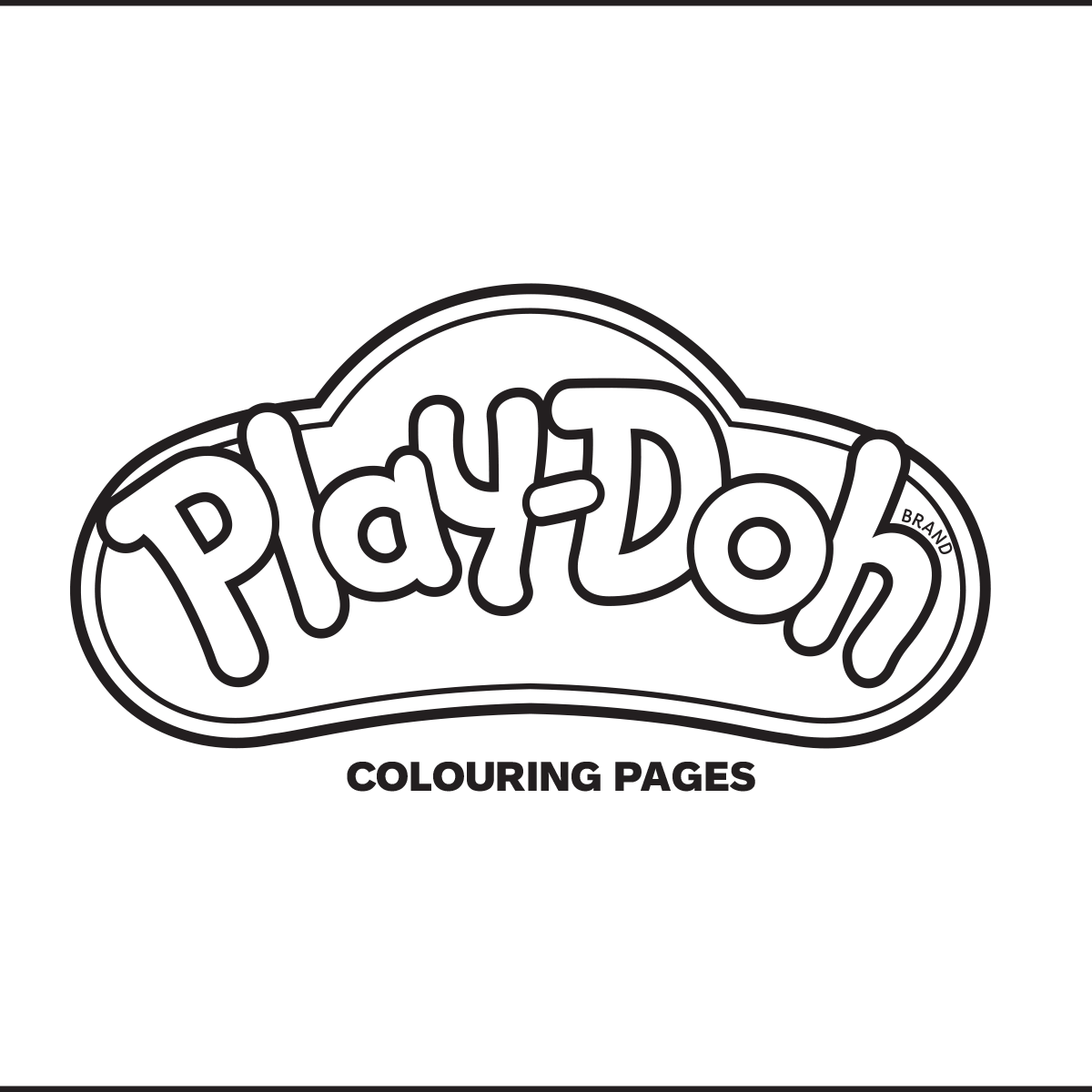 Play-Doh Colouring Pages