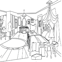 LPS Coloring Sheet - Blythe's Bedroom