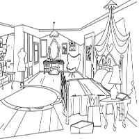 LPS Coloring Sheet - Blythe's Bedroom