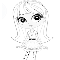 LPS Coloring Sheet - Blythe