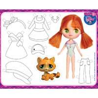 LITTLEST PET SHOP Blythe Paper Doll
