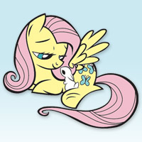 MY LITTLE PONY - Livre Coloriage de Fluttershy