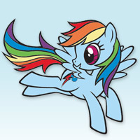 MY LITTLE PONY Rainbow Dash Coloring Book