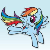 MY LITTLE PONY - Livre Coloriage de Rainbow Dash