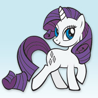 MY LITTLE PONY - Livre Coloriage de Rarity