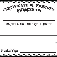 Activity: Honesty Certificate
