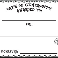 Activity: Oath of Generosity