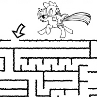 Activity: Rescue Rarity Maze