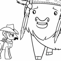 Coloring Pages: Over a Barrel