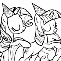 Coloring Page: Party of One
