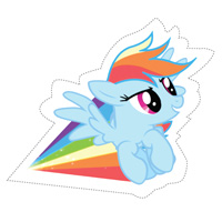 Activity: Rainbow Dash Cut Out Iron-On Transfer