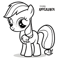 MY LITTLE PONY Young Applejack Coloring Page