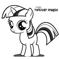 MY LITTLE PONY Young Twilight Sparkle Coloring Page