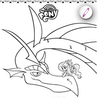 Coloring Page: Dragonshy