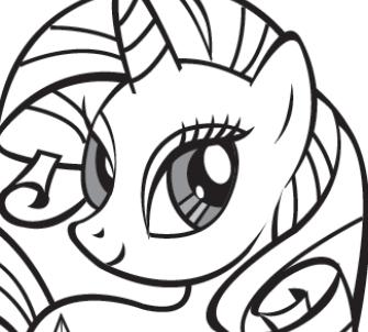 MY LITTLE PONY Rarity Colouring Book