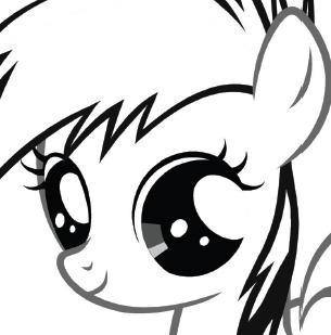 MY LITTLE PONY Young Rainbow Dash Colouring Page