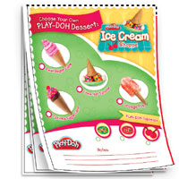 PLAY-DOH Ice Cream Order Pad Activity