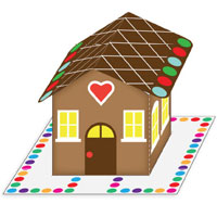 PLAY-DOH Gingerbread House Activity