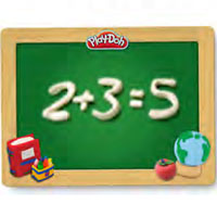 PLAY-DOH Back to School Chalkboard Playmat Activity