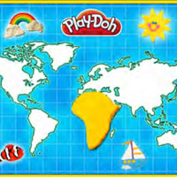 PLAY-DOH World Playmat Activity