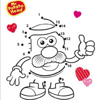 Playskool Mr. Potato Head Valentine's Day Connect the Dots Activity