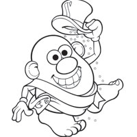 MR. POTATO HEAD New Years Coloring Page
