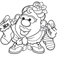 MRS. POTATO HEAD Holiday Coloring Page