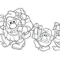 MR. POTATO HEAD Santas Helpers Coloring Page
