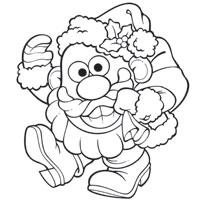 MR. POTATO HEAD Santa Spud Coloring Page