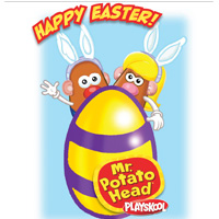 PLAYSKOOL MR. and Mrs. Potato Head Easter Card