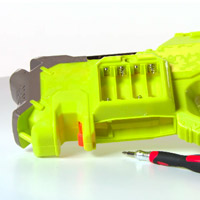 NERF N-STRIKE RAYVEN CS-18 Blaster product Demo